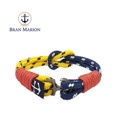Bran Marion bracelets are the perfect casual accessory for the outdoorsy sporty types. Nautical Bracelet, Nautical Rope, Nautical Jewelry, Reef Knot, Marine Rope, Everyday Look, Handmade Bracelets, Jewelry Collection, Sailor