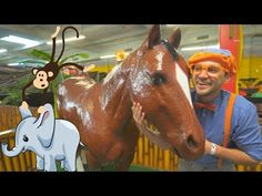- Blippi Learns about Jungle Animals for Kids Like Animals, Jungle Animals, Animals For Kids, Baby Animals, Funny Animals, Songs For Toddlers, Twin First Birthday, Horse Videos, Fun Songs