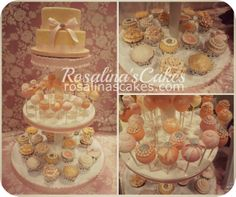 Love love this color combo! something different from the traditional wedding cake. Wedding cake, cupcakes, wedding cupcakes, vintage cakes, vintage wedding cupcakes, peach wedding cake, orange wedding cake.Cupcake tower, wedding cakes toronto
