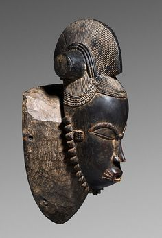 Mask Baule, Ivory Coast. Provenance: Eudald Serra collection, Spain (Acquired in Bouake, Ivory Coast, 1972).