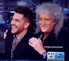 """Brian May and Adam Lambert on Good Morning America to announce summer tour with Queen - Roger """"We feel that Adam is one of the few singers that can actually deliver our songs; Brian """"Probably the ONLY singer"""""""
