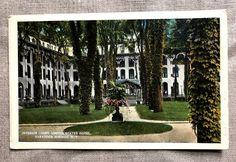 Vintages & Crafts from Saratoga Springs, NY Saratoga Springs New York, Upstate New York, Vintage Crafts, Grand Hotel, Victorian Era, Vintage Postcards, Sidewalk, Hotels, United States