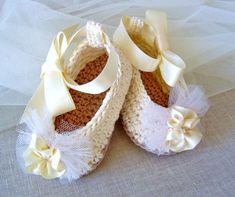 Crochet Pattern Baby Ballerina Slippers Baby Wedding Shoes