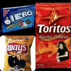 My Chemical Snacks.I bet they taste like heaven.(: / My Chemical Romance. Gerard Way. Mikey Way. Emo Band Memes, Mcr Memes, Emo Bands, Music Bands, Emo Meme, Music Memes, Mcr Quotes, Band Quotes, Mikey Way