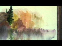 impromptu watercolor fall scene by Millie Gift Smith ... a good way to loosen up.