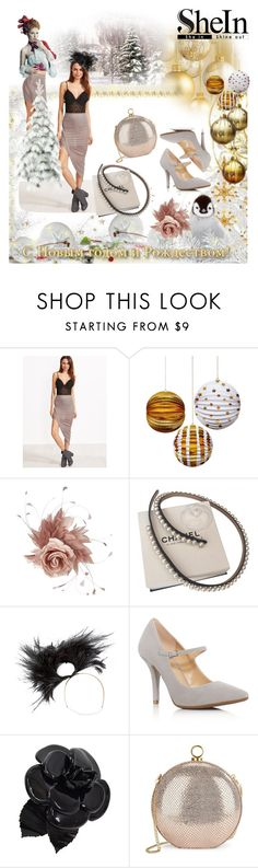 """Shein skirt"" by irinavsl ❤ liked on Polyvore featuring NERIDA FRAIMAN, Chanel, Philip Treacy, MICHAEL Michael Kors and Halston Heritage"