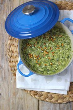 Lekker en Simpel – Risotto met pesto, spinazie en room