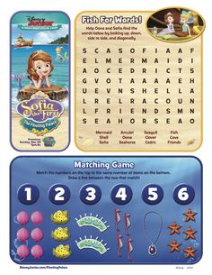 A Sofia the First: The Floating Palace activity for your kids!