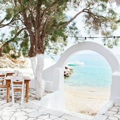 The secret Greek islands of #Paros and #Antiparos in the central Cyclades are a bather's paradise; there seem to be no end of whitewashed hillside towns and hidden swimming caves to discover and explore. Photo by Danai Issaris | #Greece #GreekIslands #Cyclades #summerholiday #beachlife #sea #seaview #hiddengem #secretspot #BeachHouseAntiparos