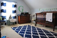 Faith's Place: Finally...BABY BOY Navy/White/Gray NURSERY REVEAL