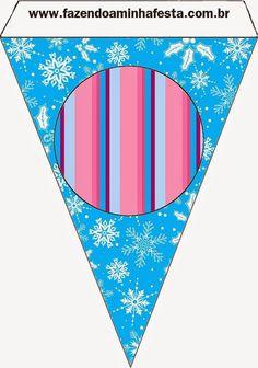 Frozen en Morado y Celeste para Navidad: Imprimibles Gratis para Fiestas.