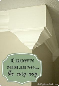 easy crown molding...in living room corners
