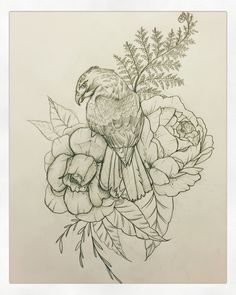 Hawk tattoo! Peony tattoo! Interested in custom drawings? Contact me at…