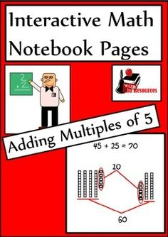 Newly released interactive math notebook lesson for adding multiples of 5. Includes a reference page and a reflection page with a rubric for self-evaluation. Download now for just $1.00.