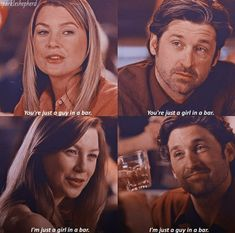The time these two met that now they just relieved them meeting eachother for the first time.This is so sweetly romantic Greys Anatomy Couples, Greys Anatomy Funny, Grey Anatomy Quotes, Grays Anatomy, Greys Anatomy Episodes, Greys Anatomy Characters, Meredith Y Derek, Kara Danvers Supergirl, Patrick Dempsey
