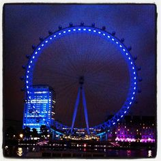 The London Eye on a cool night in June