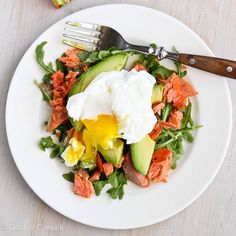 Cookin' Canuck | Poached Eggs Over Avocado & Smoked Salmon