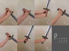 FEMALE Hand Pose 6 - Sword by pyjama-cake