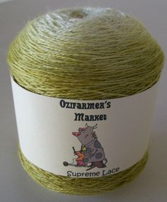 Supreme Lace - 100gm  high quality gradient dyed yellow/green 2 ply  lace - Wheat by OzifarmersMarket on Etsy