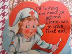OOAK/Nurse's Valentine's Day Card by AllThingsDandy on Etsy, $5.00