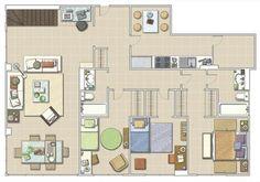 Plano Tiny Living, House Plans, Condo, Floor Plans, Flooring, How To Plan, Design, Home Decor, Cases
