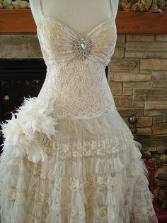 Wedding dress princess ballgown antique by RetroVintageWeddings, $935.00