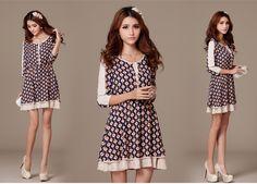 2014 Summer Fashion Collection Dress 1975 - Dresses - korean japan fashion clothes dresses wholesale women