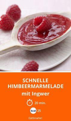 Schnelle Himbeermarmelade - mit Ingwer - smarter - Kalorien: 25 Kcal - Zeit: 20 Min. | eatsmarter.de