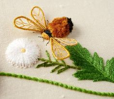 Craftsy instructor Celeste Chalasani [Stumpwork] Gold Work, Embroidery Techniques, Three Dimensional, Cross Stitch Embroidery, Spinning, Fiber Art, Turkey, Needlework, Felting