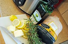 Lemon & Rosemary Crockpot Chicken {with printable recipe card}