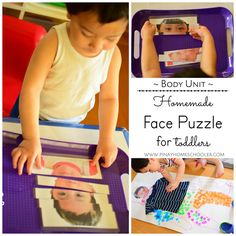 Homemade face puzzle