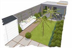 Tuin plattegrond Eigen Huis & Tuin Garden Deco, Garden Yard Ideas, Garden Theme, Small Garden Inspiration, Back Gardens, Small Gardens, Garden Architecture, Green Garden, Landscaping Plants