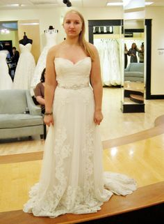 silver beaded lace wedding gown
