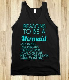 REASONS TO BE A MERMAID TANK TOP
