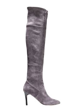 Over-the-knee boots are everything this season. Stay on-trend with this sultry pair in luscious gray. Cole Haan Marina Over-the-Knee Boot, $498, colehaan.com   - HarpersBAZAAR.com