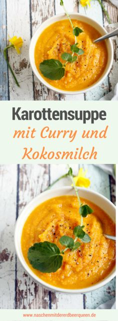 New Easy Cake : Carrot soup with curry - a high on the carrot, Low Carb Recipes, Vegan Recipes, Carrot Soup, Carrot Curry, Carrots, Brunch, Clean Eating, Food And Drink, Homemade