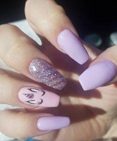 Unicorn nails : a friend #nails #nailart #unicorn #purple