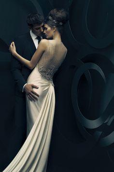 SpringSummer. Black and White.  Wedding.  Tuxedo.  White dress.