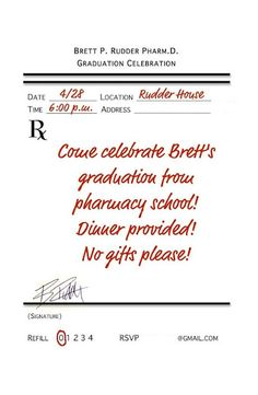 A great source for a pharmacist graduation party