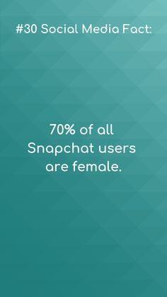 Social media facts Seems like most platforms are dominated by females 😁.