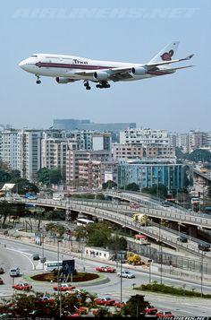Thai International, Airplane Wallpaper, Thai Airways, Boeing 747 400, Passenger Aircraft, Great Shots, Airports, Aerial View