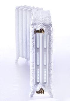 Radiateur en fonte d'angle BELLE EPOQUE, couleur blanc brillant. www.cinier.com