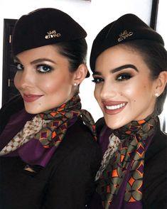 The Most Beautiful Girl, Beautiful Women, Air Hostess Uniform, Airline Cabin Crew, Airline Uniforms, Flight Attendant Life, Female Pilot, Girls Uniforms, Female Images