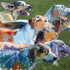 'Six', a oil on panel, permanent collection Alexandria Museum of Art, Alexandria, Louisiana. Oil Pastel Paintings, Realistic Paintings, Animal Paintings, Weimaraner, Dog Sculpture, The Fox And The Hound, Vintage Dog, Wildlife Art, Dog Portraits