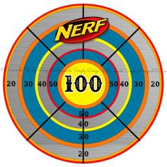 It's just a photo of Smart Nerf Target Printable