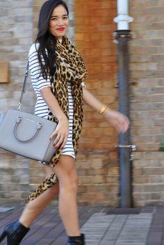 Vanessa Bruce, marketing and advertising co-ordinator Stussy dress, Seed scarf, MICHAEL Michael Kors bag, Diavolina Shoes, TW Steel watch. #streetstyle