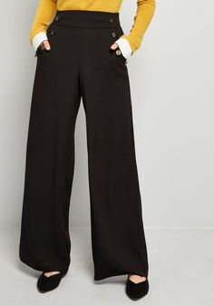 2531cbedc75 The Cambridge Pant in Black in XL - Wide Pant High Waisted Black Trousers