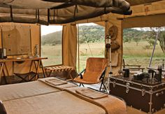 Safari Tent style, the only way to go camping Glamping, Tent Camping, Camping Room, Camping Gear, Luxury Tents, Luxury Camping, Luxury Hotels, British Colonial Decor, Tent Living