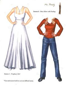 Buffy_ the vampire Slayer_ paper doll by Liz Kovacs