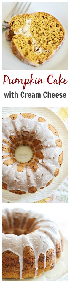 Sweet pumpkin cream cheese bundt cake recipe with pumpkin and cream cheese in one decadent cake. Cheesecake lovers would love this amazing cake | http://rasamalaysia.com